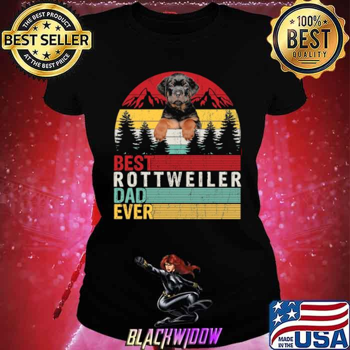 Best Rottweiler Dad Ever Ladies tee