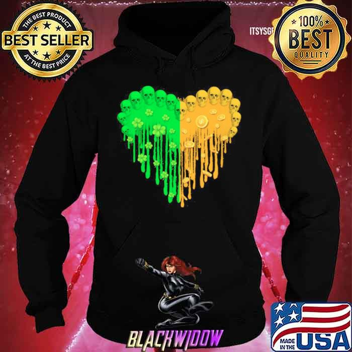 Heart Hippie Skulls Happy St Patricks Day 2021 shirt