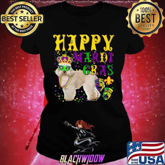Poodle Dog Mardi Gras Ladies tee