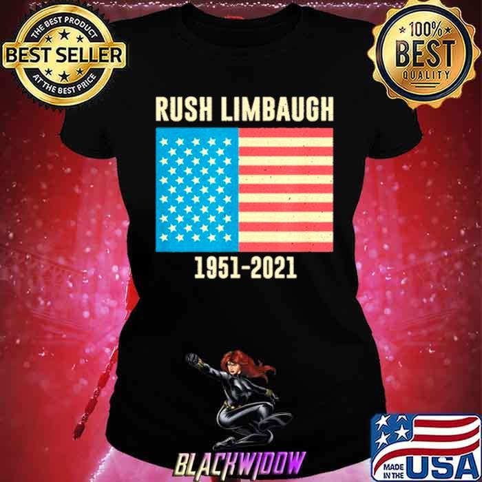 Rush Limbaugh conservative patriot 1951 2021 Ladies tee