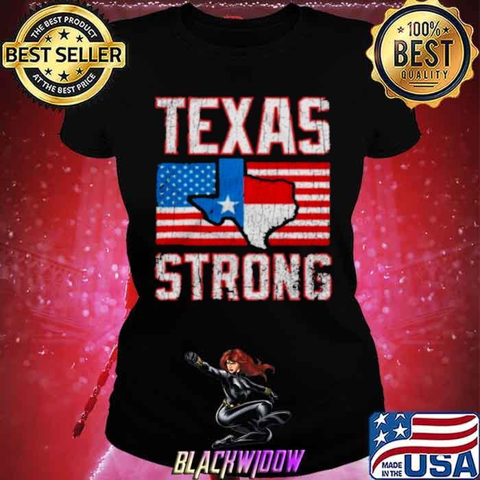 texas strong american flag Ladies tee