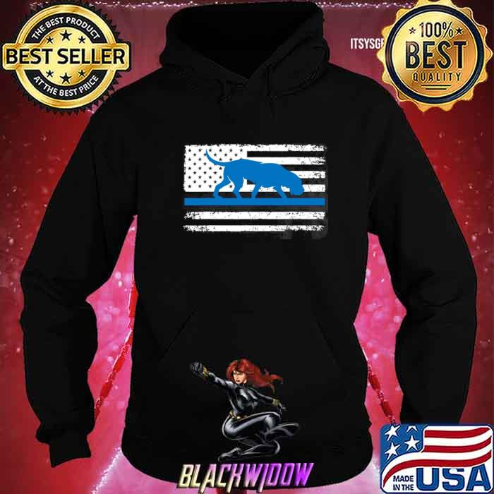 American Flag Bloodhound K9 Police Thin Blue shirt - Copy Hoodie
