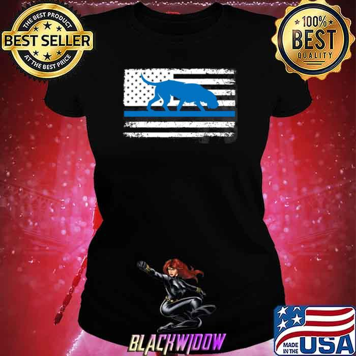 American Flag Bloodhound K9 Police Thin Blue shirt - Copy Ladies tee