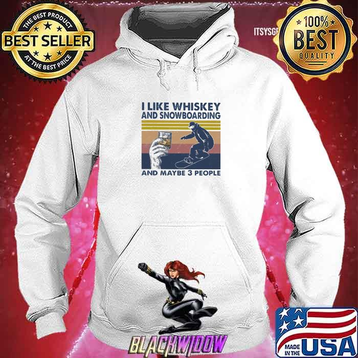 I Like Whiskey And Snowboarding And Maybe Three People Vintage Shirt Hoodie
