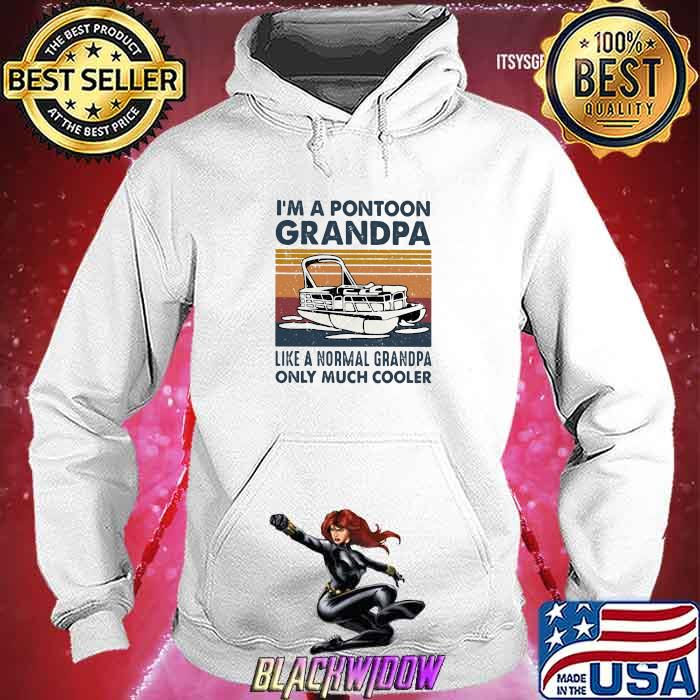 I'm A Pontoon Grandpa Like A Normal Grandpa Only Much Cooler Boating Vintage Shirt Hoodie
