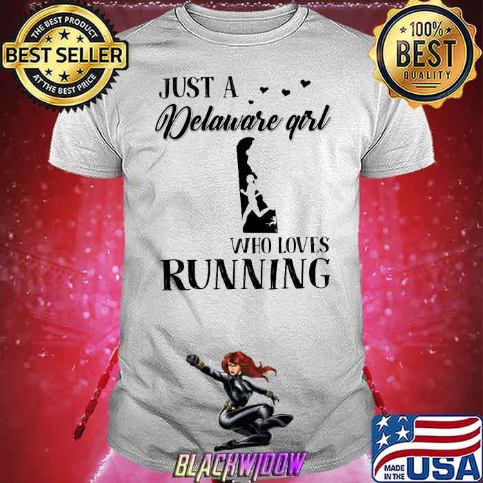 Just A Delaware Girl Who Loves Running Shirt