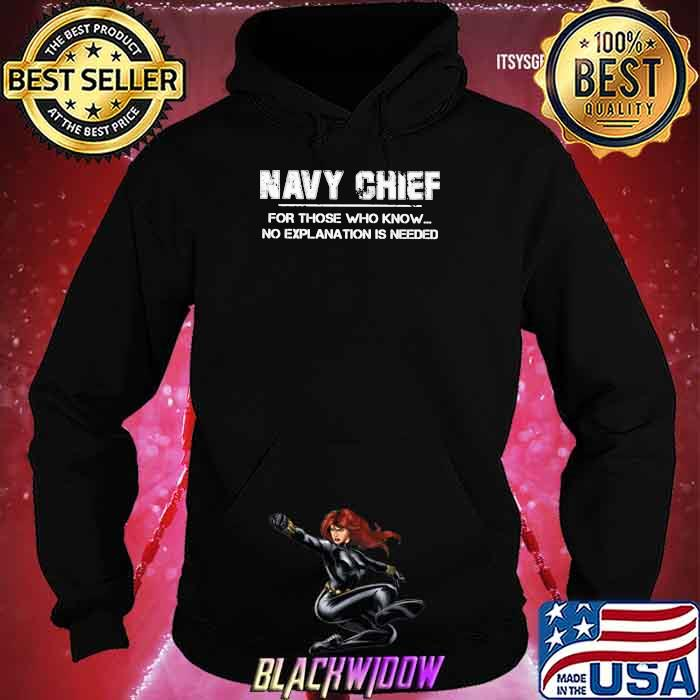 Navy Chief For Those Who Know No Explanation Is Needed Shirt Hoodie