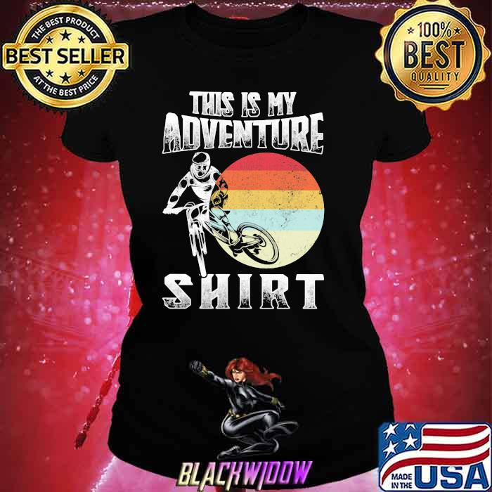 This Is My Adventure Riding Sunset Vintage Shirt Ladies tee