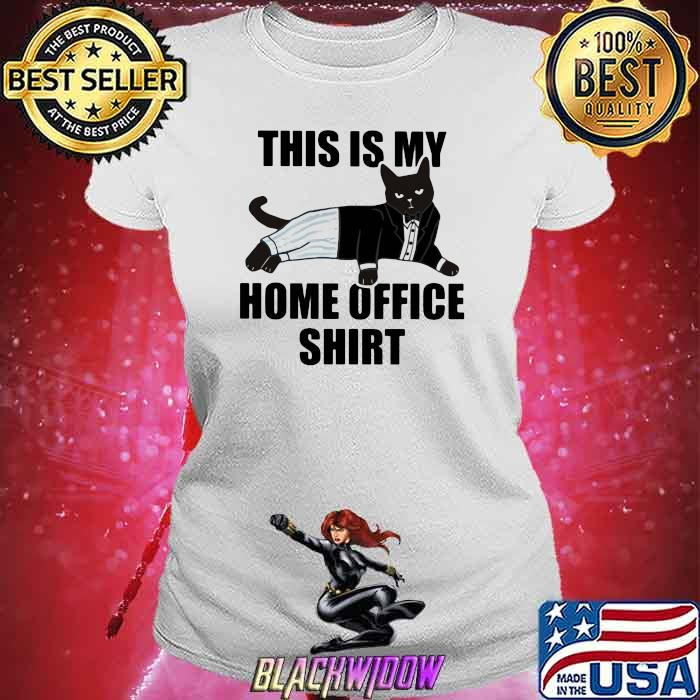 This Is My Home Office Cat Shirt Ladies tee
