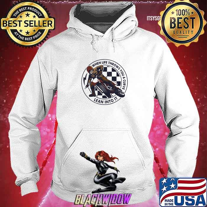 When Life Throws You A Curve Lean Into It Motorcycling Shirt Hoodie