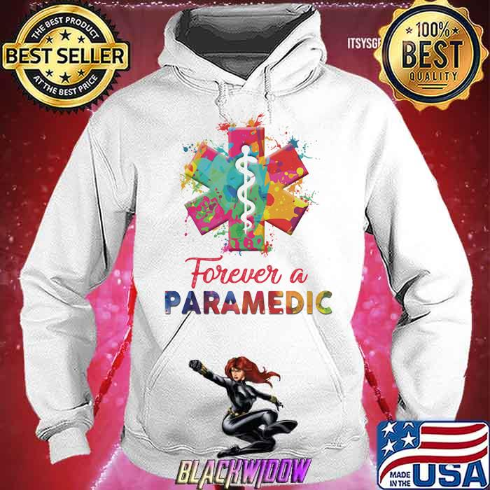 Forever A Paramedic Watercolor Hoodie