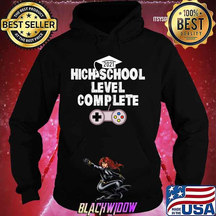 High School Level Complete Gamer 2021 Grad Shirt Hoodie
