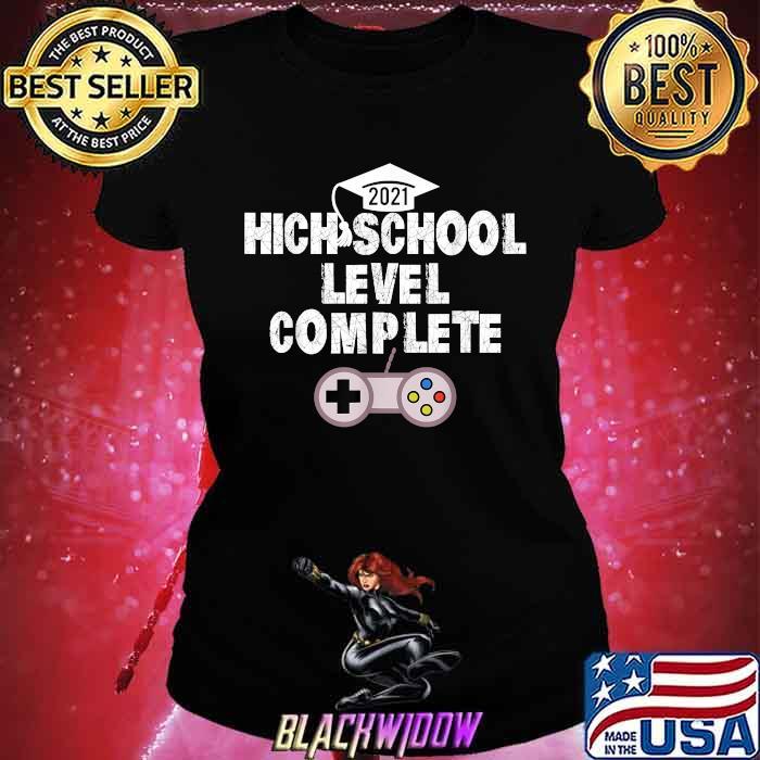 High School Level Complete Gamer 2021 Grad Shirt Ladies tee
