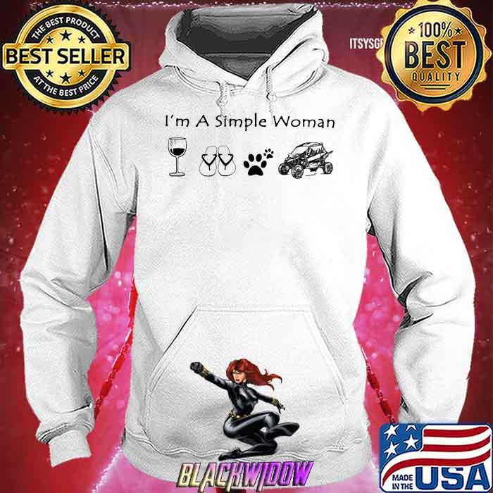 I'm A Simple Woman Wine Shoes Dogs and car Hoodie