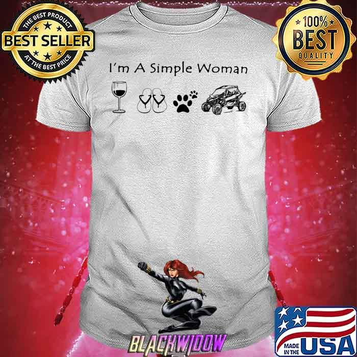I'm A Simple Woman Wine Shoes Dogs and car shirt