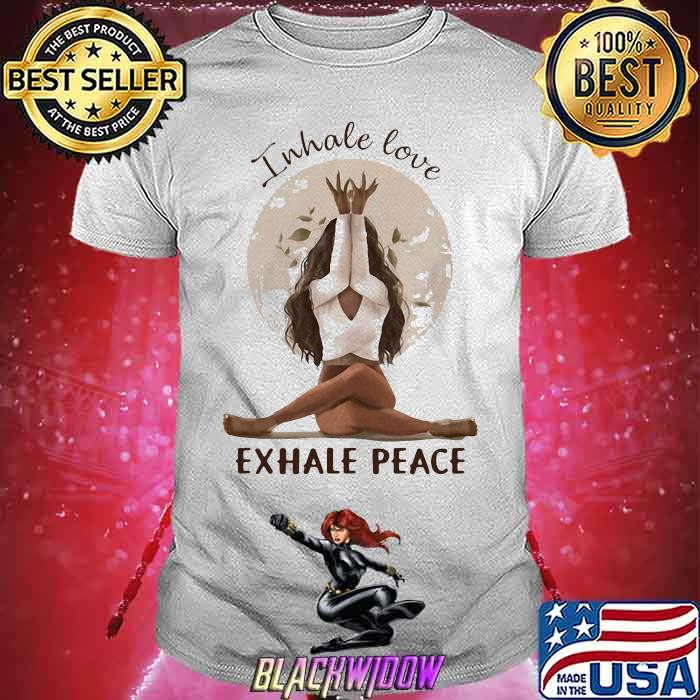 Inhale love Exhale Peace Girl Shirt
