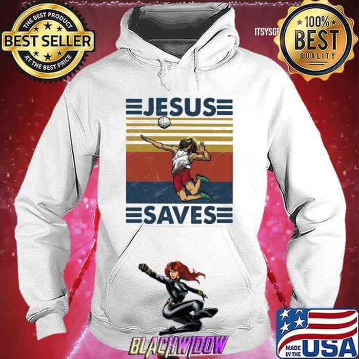 Jesus Saves Volleyball Vintage Shirt Hoodie