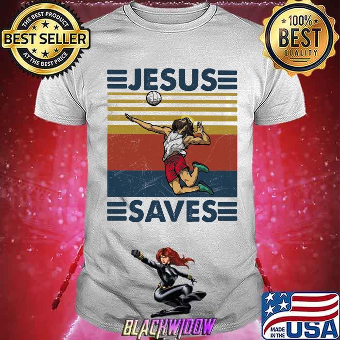 Jesus Saves Volleyball Vintage Shirt