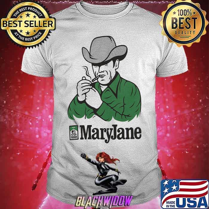 Maryjane Biała Koszulka Męska Shirt