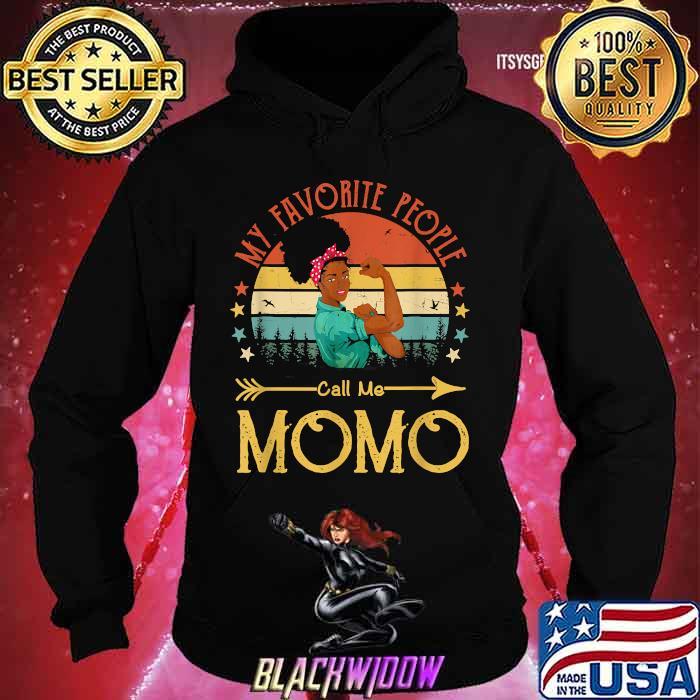 My Favorite People Call Me Momo Mother's Day Vintage Shirt Hoodie