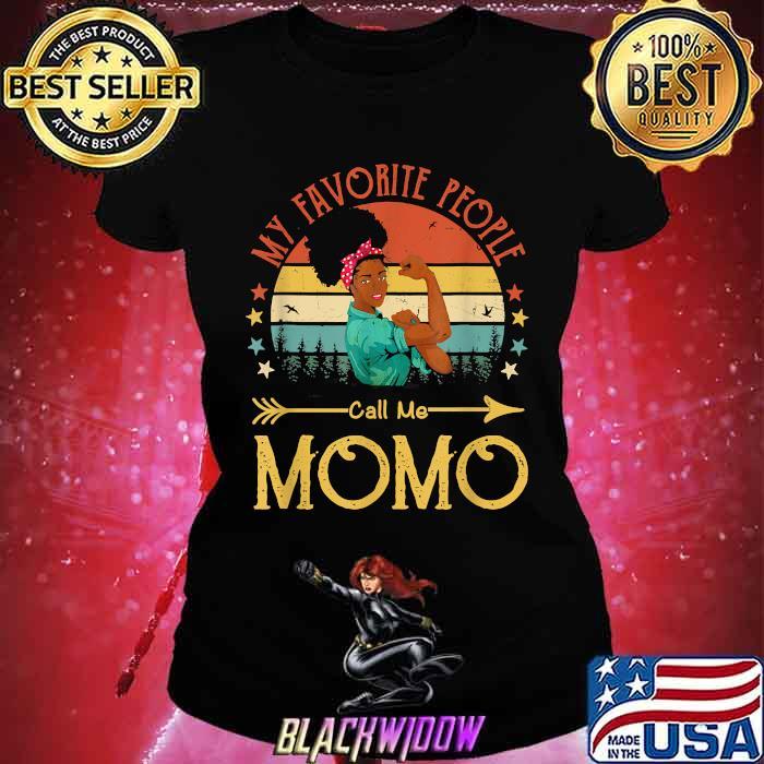 My Favorite People Call Me Momo Mother's Day Vintage Shirt Ladies tee