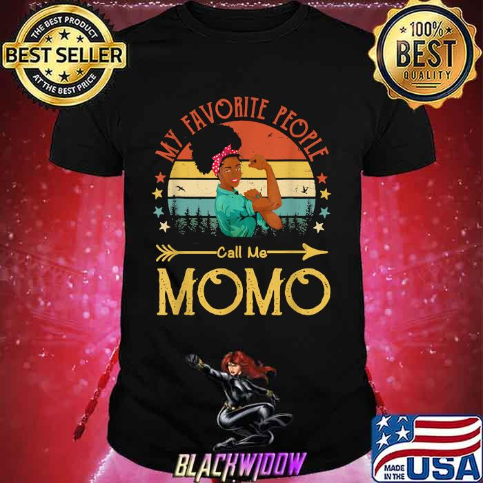 My Favorite People Call Me Momo Mother's Day Vintage Shirt