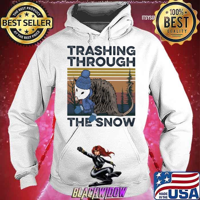 Trashing Through The Snow Vintage Shirt Hoodie