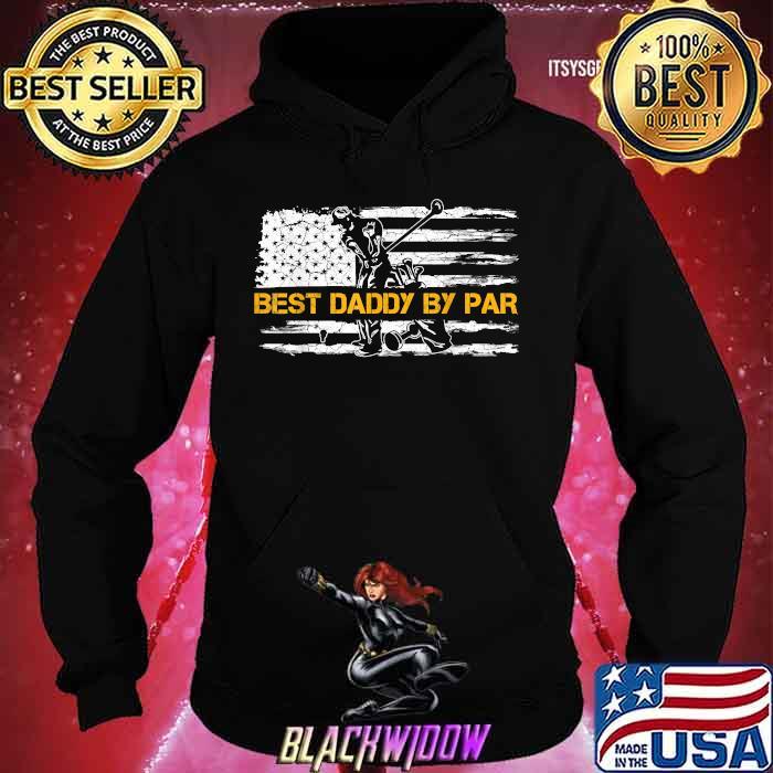 Vintage US American Flag Best Daddy By Par Golfer Silhouette Shirt Hoodie