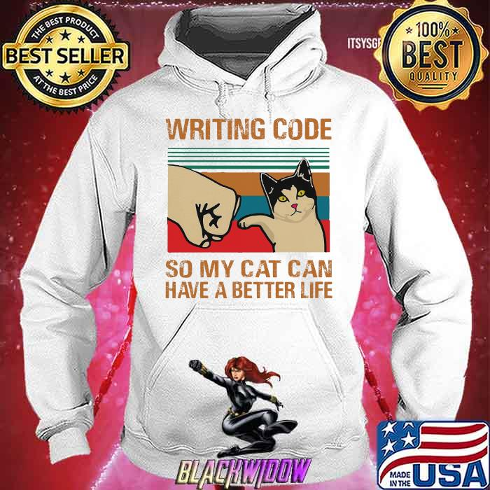 Writing Code So My Cat Can Have A Better Life Vintage Shirt Hoodie