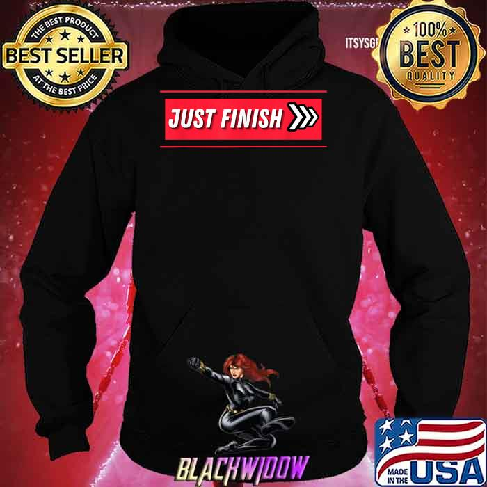 Just Finish Stripe Fitness Motivation Shirt Hoodie