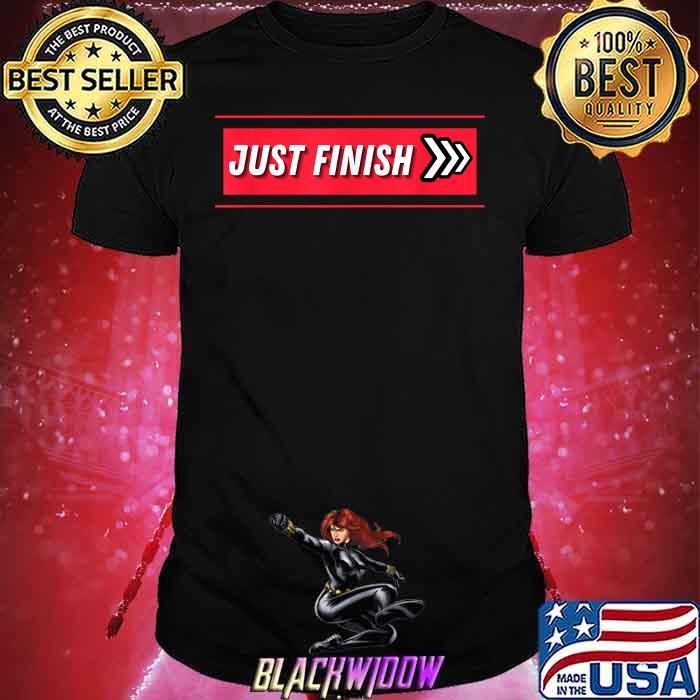 Just Finish Stripe Fitness Motivation Shirt