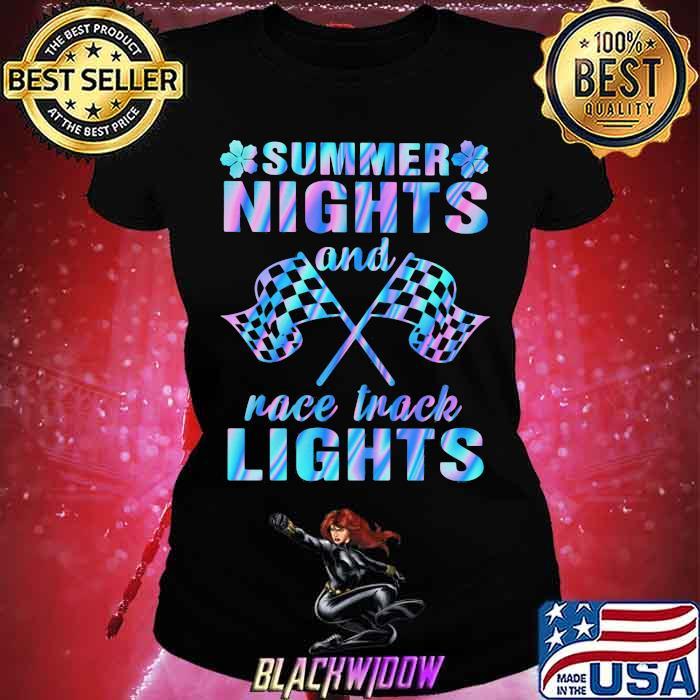Summer Nights And Race Track Lights Hologram Shirt Ladies tee